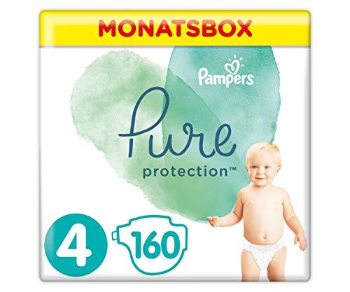 Pampers Größe 4 Pure Protection Baby Windeln, 160 Stück, MONATSBOX, Mit Premium-Baumwolle Und...