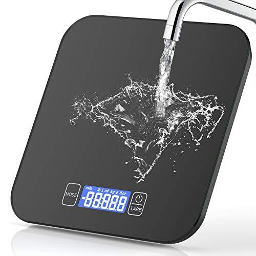Digitale Küchenwaage, 15kg/33lb Digitalwaage Digital Küchenwaagen Elektronische Waage Küche Haushaltswaage...