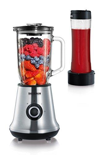 SEVERIN Multimixer SM 3737 mit Smoothie Mix & Go (Inkl. 1 L Mixbehälter und 600 ml Trinkbecher mit Deckel,...