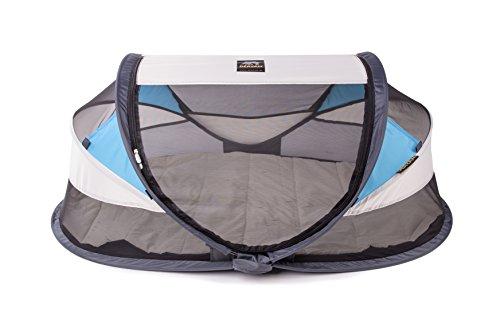 Deryan BL-CR-BLUE Travel-Cot Reisebett Baby Luxe Khaki, Cremeblau