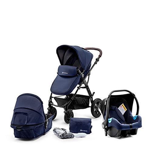 kk Kinderkraft Kinderwagen 3 in 1 MOOV Kinderwagenset Sportwagen Buggy und Tragewanne in Einem Babyschale...