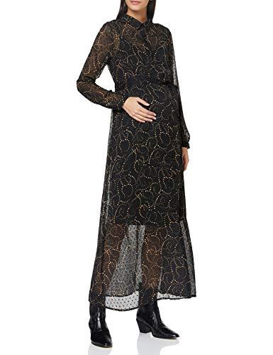 ESPRIT Maternity Damen Dress WVN Nursing ls AOP Kleid, Gunmetal-15, S