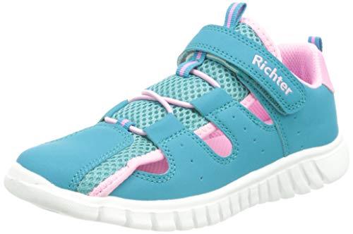 Richter Kinderschuhe Wallaby Sneaker, Jade/Candy, 25 EU
