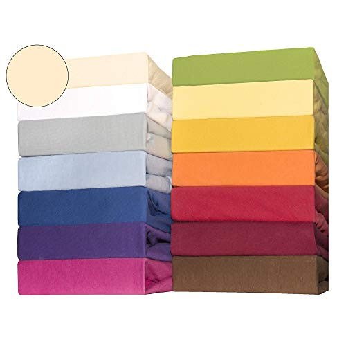 CelinaTex Lucina for Kids Kleinkinder Spannbettlaken Doppelpack 60x120 - 70x140 cm natur beige Baumwolle...