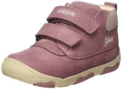 Geox Baby-Mädchen B New BALU' Girl B Ankle Boot, Pink (Dk Pink), 24 EU