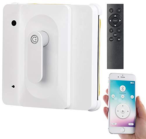 Sichler Haushaltsgeräte Fensterroboter: Profi-Fensterputz-Roboter PR-040 mit Bluetooth, App & Sicherungs-Seil...