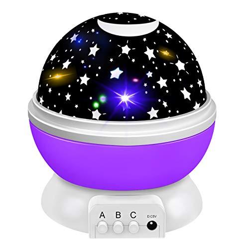 Tesoky Nachtlicht Baby, Kinder Geschenke Mädchen 2-12 Jahre Led Projektor Sternenhimmel Als Spielzeug Jungen...