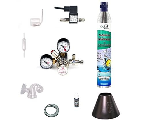 Hiwi CO2 Anlage 425 Profi mit Wassersprudler-Flasche (kompatibel zu vielen Wassersprudelzylindern.) und...