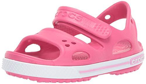 Crocs Crocband Ii Sandal Ps K, Unisex-Kinder Sandalen, Pink (Paradise Pink/carnation), 27-28 EU (10 UK)