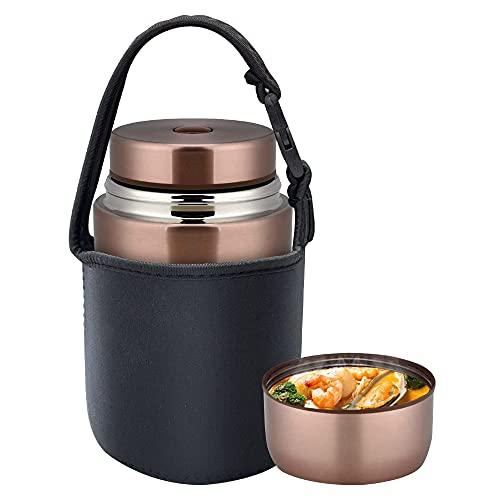 AmazeFan Thermobehälter Lunchbox 800ml, Edelstah Warmhaltebehälter für Essen, Speißen, Babynahrung, Suppe,...