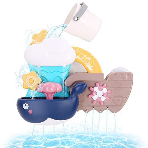 BBLIKE Badespielzeug, Badewannenspielzeug mit Becher und EIN Wal gut Geschenk für Kind und Baby ab 3 Jahre