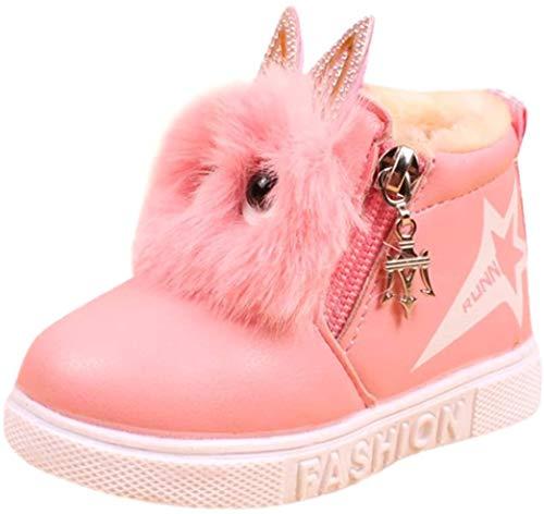 Kolylong Stiefel Mädchen (1-6 Jahre alt) Kinder Baby Mädchen Karikatur Sneaker Stiefel Herbst Winter Warme...