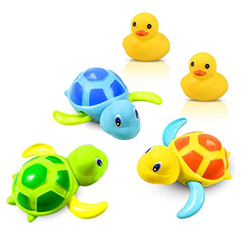 Badewannenspielzeug Schildkröte zum Aufziehen schwimmt selbst im Wasser fü