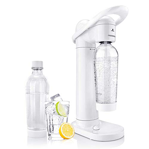 Freihafen Soda Streamer Moderner Weißer Wassersprudler mit 2 X 1L PET-Sprudelflasche BPA-Frei...