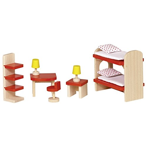 Goki 51719 Puppenmöbel Kinderzimmer, Basic
