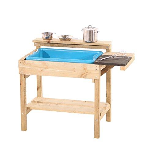 TP Toys 310 Wooden Mud Kitchen TP Muddy Cook Holzschlamm Küche, holzfarben, 33 x 54 x 58cm