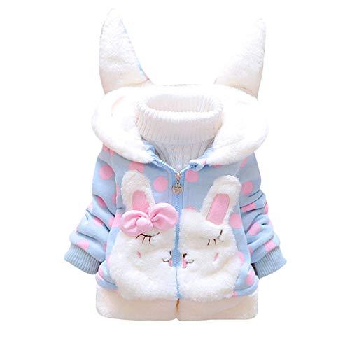 NUSGEAR Baby Mädchen Mäntel Winter Warm Kleidung Daunenmantel (1-5Y) Mädchen Langarm Mantel Wintermantel...