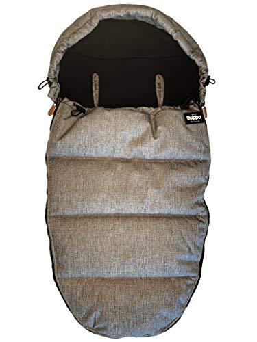 The Buppa Brand Fußsack Winter - Grey Melange, grau, Winterfußsack für Kinderwagen