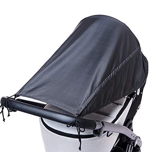 Universal Sonnensegel für Kinderwagen mit Seitenschutz/UV Schutz 50+/ Sonnenverdeck für...