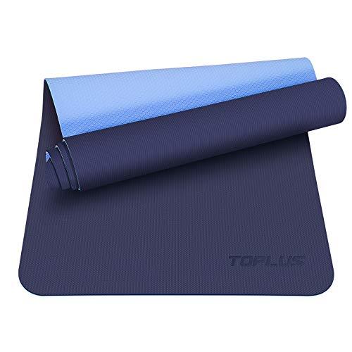 TOPLUS Preumium Yogamatte aus hochwertigen TPE, rutschfest Yogamatte Gymnastikmatte Übungsmatte Sportmatte...