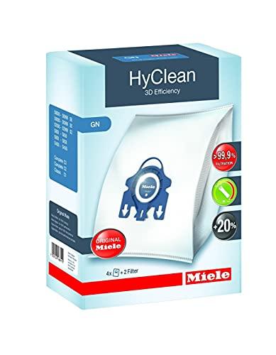 Miele Original Zubehör GN HyClean 3D Staubbeutel / filtert mehr als 99,9 prozent aller Feinstaubpartikel / 4...