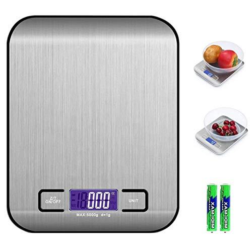 QUNPON Digitale Elektronische Küchenlebensmittelwaage, Küchenwaage mit LCD Display-wunderbare Präzision auf...