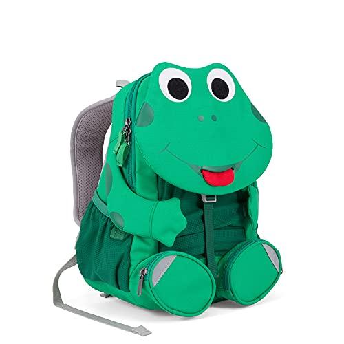 Affenzahn Kinderrucksack für 3-5 Jährige im Kindergarten - Fabian Frosch - Grün