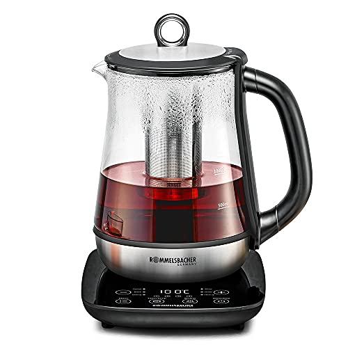 ROMMELSBACHER Tee- und Wasserkocher TA 2000 - 6 Programme, Temperaturregelung von 50-100 °C,...