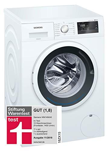 Siemens iQ300 WM14N040 Waschmaschine / 6,00 kg / A+++ / 137 kWh / 1.400 U/min / Schnellwaschprogramm /...