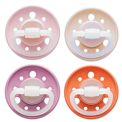nip Schnuller Cherry kirschförmig: BPA-Frei, Größe 1, 0-6 Monate, Latex, Rosa/Pink/Rot/Orange Erdig, 4...