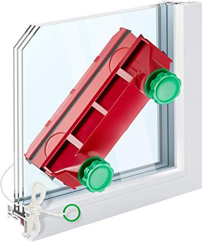 Tyroler Fensterreiniger mit regulierbarer Magnetkraft Glider D-4 | Fensterputzen leicht gemacht |...