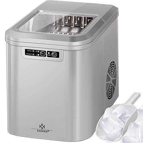 KESSER® Eiswürfelbereiter | Eiswürfelmaschine Edelstahl | Ice Maker | 12 kg 24 h | Zubereitung in 7 min |...