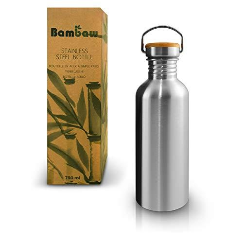 Bambaw Trinkflasche 1l Edelstahl | Langlebige Wasserflasche 1l| Wiederverwendbare öko Wasserflasche | Für...