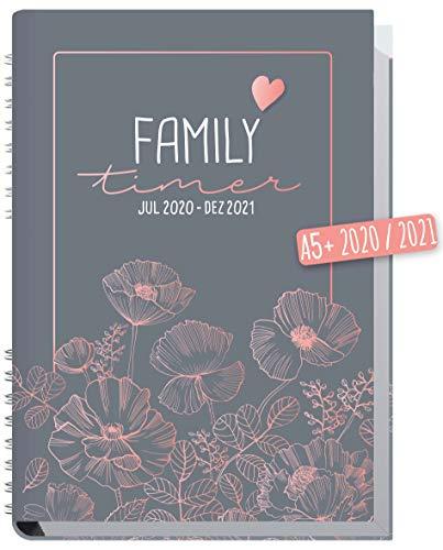Family-Timer 2020/2021 A5 [Poppy] Familien-Kalender 18 Monate: Juli 20 - Dezember 21 | Familien-Planer für...