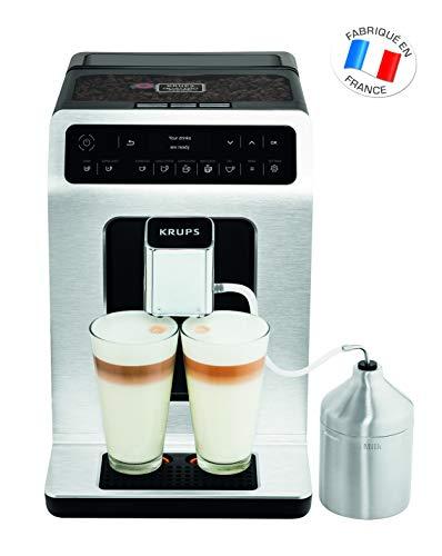 Krups EA891D Evidence Kaffevollautomat, Barista Quattro Force Technologie, 12 Kaffee-Variationen, 3...