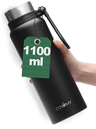 Cosumy Thermosflasche aus Edelstahl - 1100 ml - Auslaufsicher - Kohlensäure Geeignet - Doppelwandige...