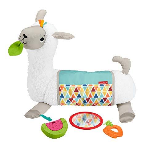 Fisher-Price GLK39 - 4 in 1 Lama weiches Spielkissen mit 4 Spielmöglichkeiten und 3 Spielzeuge zum Mitnehmen,...
