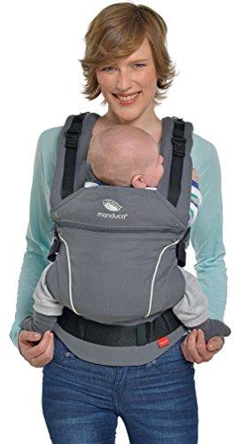 manduca First Babytrage  PureCotton Dark Grey  Ergonomische Babytrage I Bio-Baumwolle I Neues...