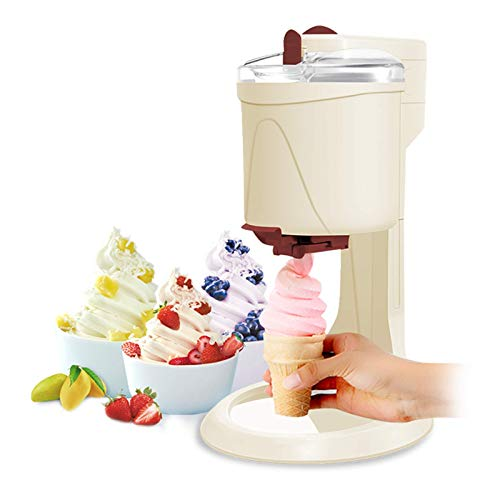 MNCYGJ Eismaschine Mit Kompressor Softeismaschine Für Zuhause Ice Cream Machine 1L Aluminiumfolie in...