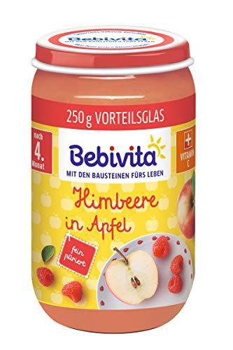 Bebivita Früchte Himbeere in Apfel, 6er Pack (6 x 250 g)