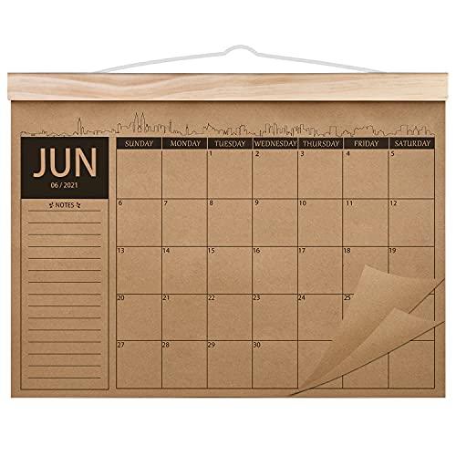 Norjews Kalender 2021-2022, 18-monatiger Familienplaner Kalender, Dickes Kraftpapier Wandkalender,...