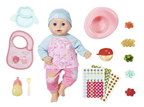 Baby Annabell Fütterspaß Puppe mit Kleidung und Zubehör und lebensechten Funktionen, weinen, trinken, Pipi...