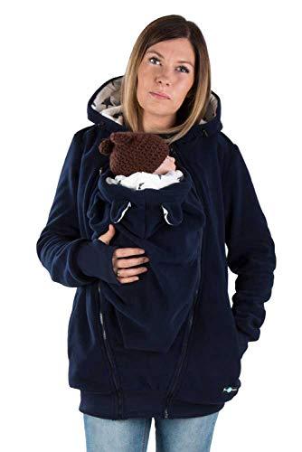 fun 2B mum Baby-Tragejacke Luna aus Fleece, 3-in-1, Navy/Stars Gr. S/M
