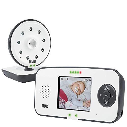 NUK Eco Control 550VD Digitales Babyphone, mit Kamera und Video Display, bis zu 4 Kameras hinzufügbar, frei...