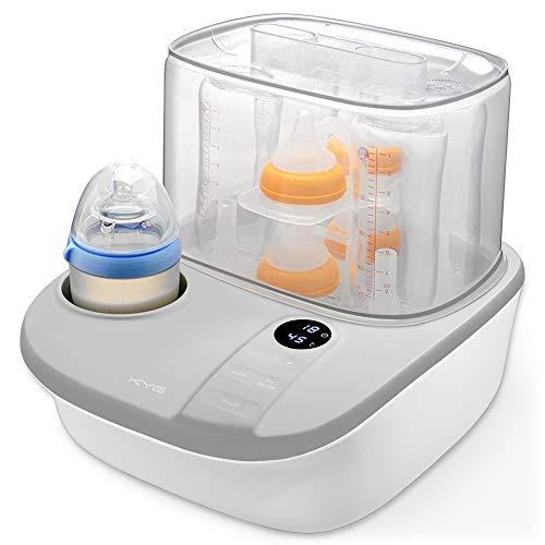 4 in 1 Dampfsterilisator Baby sterilisator Flaschenwärmer mit Trocknungsfunktion 900W, Platz für bis zu 6...