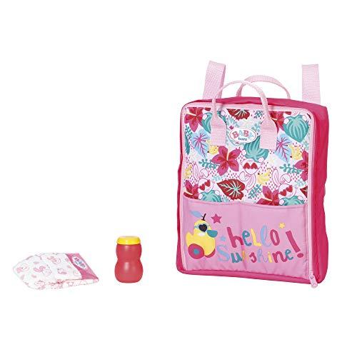 Zapf Creation 829233 BABY born Holiday Wickelrucksack Puppenzubehör 43 cm, pink/bunt