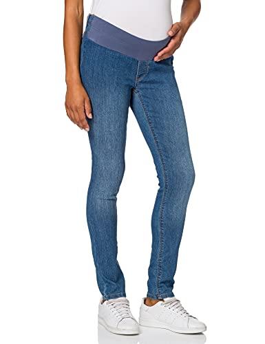 ESPRIT Maternity Damen Jegging UTB Umstandsjeans, Blue Medium Washed, L32 (Herstellergröße: 34/32)