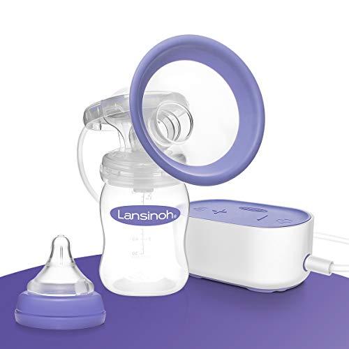 Lansinoh Elektrische Milchpumpe Kompakt - besonders klein & leise - ideal für zu Hause und unterwegs -...