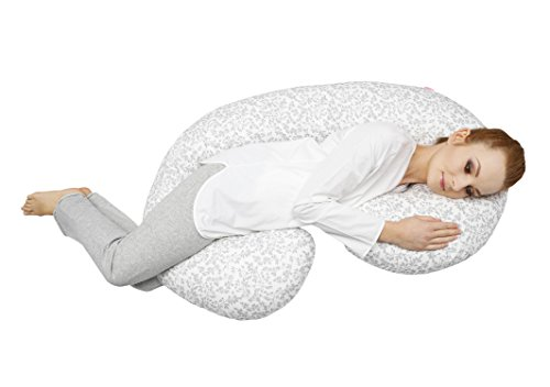 Motherhood Still- und Lagerungskissen sleepy-C, Classics, ergonomisch mit Öko-Tex Standard 100, Graue Zweige...