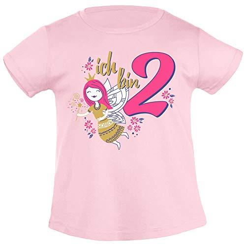 Ich Bin 2 goede fee verjaardagscadeau voor meisjes in Goud meisje T-Shirt